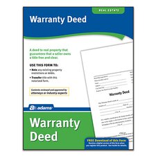 Warranty Deed Forms and Instruction (Set of 288)