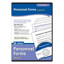 Employee personnel Forms Compact Disc with 65 Forms (Set of 6)