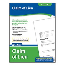 Claim of Lien Forms and Instruction (Set of 288)