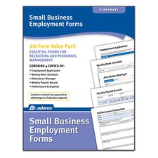 Small Business Employment Forms and Instructions (Set of 96)
