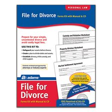 Divorce Forms and Instructions Kit (Set of 96)