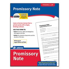Promissory Note Forms and Instruction (Set of 288)