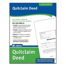 Quitclaim Deed Forms and Instruction (Set of 288)