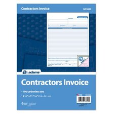 3 Part Carbonless Contractor Invoice (Set of 200)
