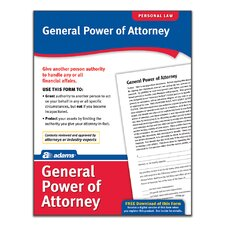 General Power of Attorney Forms and Instruction (Set of 288)