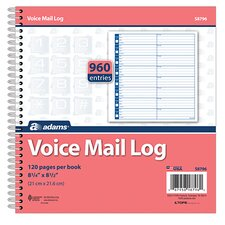 Voice Mail Log Book (Set of 15)