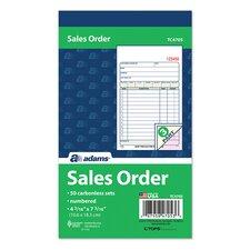 "4.19"" x 7.19"" 3 Part Carbonless Sales Order Book (Set of 25)"