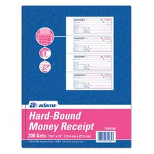 3 Part Carbonless Hardbound Receipt Book (Set of 5)