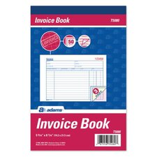 <strong>Adams Business Forms</strong> 3 Part Carbonless Invoice Book (Set of 10)