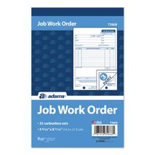 3 Part Carbonless Job Work Order Book (Set of 10)