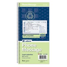 2 Part Carbonless Phone Message Book (Set of 180)