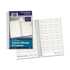 "<strong>Adams Business Forms</strong> Vehicle Mileage/Expense Journal,w/Pockets, 8-1/2""x5-1/2"", 64 Page, White"