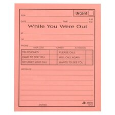 """While You Were Out"" Message Pad, 4 x 5, 3-Part, 12/Pack"