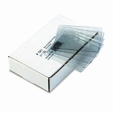 Security Id Badge Holder, Horizontal, 3 7/8W X 2 5/8H, 50/Box