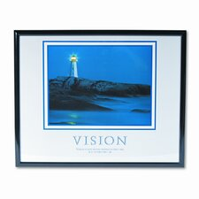Vision Lighthouse Motivational Print Frame