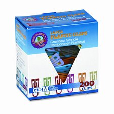 "Gem Paper Clips, Plastic, Large (1-3/8""), 200/ Box"