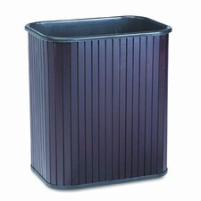 Rectangular Hardwood Wastebasket, 17 Qt