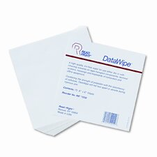 DataWipe Office Equipment Cleaner, Cloth, 6 x 6, White, 75/container