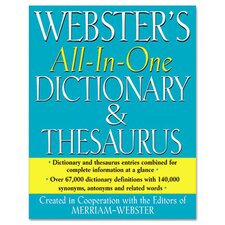 Merriam Webster All In One Dictionary/Thesaurus, Hardcover, 768 Pages