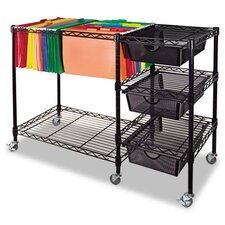 "28"" Mobile File Cart"