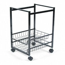 Mobile File Cart with Sliding Baskets