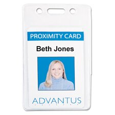 Proximity Id Badge Holder, Vertical, 2 3/8W X 3 3/8H, 50/Pack