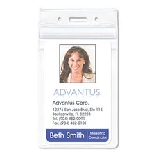 <strong>Advantus Corp.</strong> Resealable Id Badge Holder, Vertical, 2 5/8W X 3 3/4H, 50/Pack