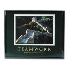 """Teamwork/Great Wall Of China"" Framed Motivational Print, 31-1/2w x 25-1/2h"