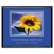 Customer Service Framed Motivational Print, 30 X 24