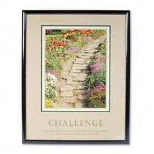 Challengeframed Motivational Print, 24 X 30