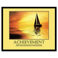 Achievemant Framed Motivational Print, 24 X 30