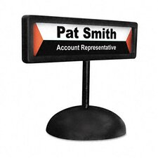 People Pointer Desktop Sign with Nameplate, Plastic