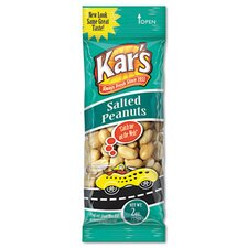 Kar'S Nuts Caddy, Salted Peanuts, 2 Oz Packets, 24 Packets/Caddy