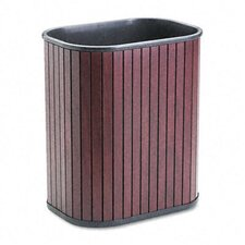 Rectangular Hardwood Wastebasket, 13 Qt