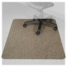 Recyclear Chairmats for Carpets, 45 X 53, 25 X 12 Lip