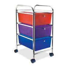 "<strong>Advantus Corp.</strong> 3-Drawer Organizer, w/ Casters, 13""x15-1/4""x26, Smoke"