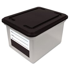 Innovative Storage Designs File Tote Storage Box with Snap-On Lid Closure, Letter/Legal