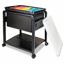 "21"" Folding Mobile File Cart"
