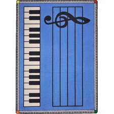 Play Along© Blue with Keys Kids Rug