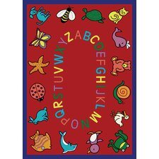 <strong>Joy Carpets</strong> Educational ABC Animals Kids Rug