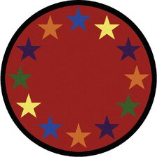 Educational Star Space Kids Rug