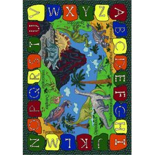 Educational We Dig Dinosaurs Kids Rug