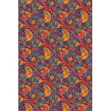 Fluorescent Lava Novelty Rug