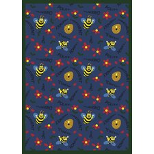 Educational Bee Attitudes Kids Rug