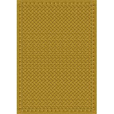 Whimsy Family Legacies Diamond Plate Gold Area Rug
