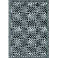 Whimsy Family Legacies Lead Gray Diamond Plate Rug