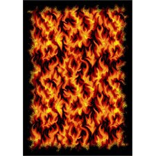 Whimsy Kid Essentials Inferno Orange Area Rug