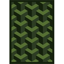 Whimsy Family Legacies Rooftop Emerald Green Rug