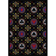 <strong>Joy Carpets</strong> Gaming and Entertainment Games People Play Stacked Deck Poker Novelty Rug