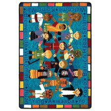 <strong>Joy Carpets</strong> Educational Essentials VIP Welcome in Many Languages Kids Rug